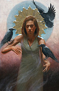 Crows Paintings - Phythia by Eric Wieringa
