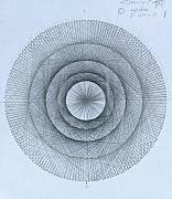 Realism Drawings - Pi within Pi by Jason Padgett