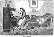Chaise Prints - Pianist, 1876 Print by Granger