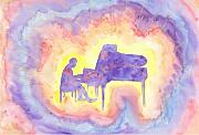 Semi Abstract Originals - Pianist by Louise Marquis