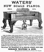 1874 Photo Metal Prints - Piano Advertisement, 1874 Metal Print by Granger