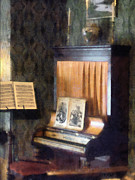Designs By Susan Prints - Piano and Sheet Music on Stand Print by Susan Savad