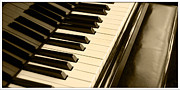 Piano Keys Prints - Piano Print by Charuhas Images