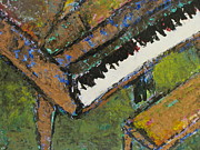 Close Up Painting Metal Prints - Piano close up 1 Metal Print by Anita Burgermeister