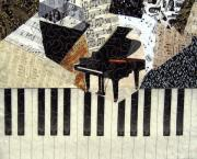 Black And White Tapestries - Textiles - Piano Concerto by Loretta Alvarado