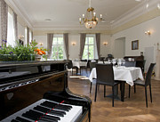Estonia Framed Prints - Piano in a Upscale Dining Room Framed Print by Jaak Nilson