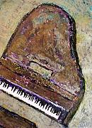 Grand Piano Framed Prints - Piano in Bronze Framed Print by Anita Burgermeister