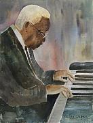 Pianos Paintings - Piano Jazz by Arline Wagner