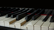 Black Arts Posters - Piano Keyboard Poster by Martin Zalba is a photographer looking for a personal look,