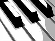 Musical Digital Art Metal Prints - Piano Keyboard Metal Print by Michael Tompsett