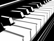 Piano Digital Art Prints - Piano Keyboard no2 Print by Michael Tompsett