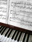 Musical Photo Metal Prints - Piano Keys Metal Print by Carlos Caetano