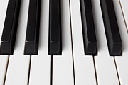 Pianos Framed Prints - Piano keys close up Framed Print by Garry Gay