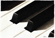 Piano Keys Print by Jeanne Delage