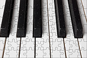 Playing Piano Posters - Piano keys jigsaw Poster by Garry Gay