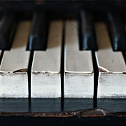 Focus On Foreground Art - Piano Keys by Julie Rideout