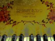 Steinway  Posters - Piano Keys of the Golden Age Poster by Colleen Kammerer