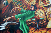 Mural Photos - Piano Man 4 by Bob Christopher