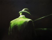 Stage Lights Paintings - Piano Man by Anita Stone