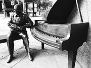 Black Sculpture Acrylic Prints - Piano Man Acrylic Print by Kevin Gilchrist