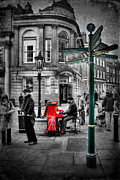 Selective Color Framed Prints - Piano Man Framed Print by Yhun Suarez