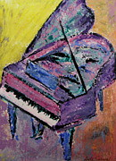 Piano Painting Originals - Piano Pink by Anita Burgermeister