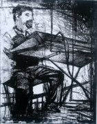 Play Drawings Prints - Piano Playin Print by Molly Markow