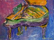 Grand Piano Prints - Piano Purple Print by Anita Burgermeister
