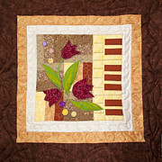 Hand Made Tapestries - Textiles - Piano Quilt by Masha Novoselova