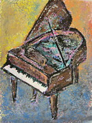 Piano Keys Painting Originals - Piano Study 2 by Anita Burgermeister