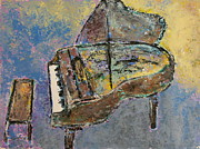 Piano Keys Painting Originals - Piano Study 3 by Anita Burgermeister