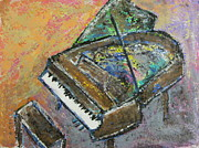 Piano Keys Painting Originals - Piano Study 4 by Anita Burgermeister