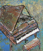 Piano Keys Painting Originals - Piano Study 5 by Anita Burgermeister