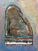 Piano Keys Painting Originals - Piano Study 6 by Anita Burgermeister