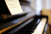 Note Posters - Piano With Blur Poster by Photo by Giuseppe Amato