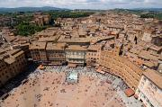 Sienna Italy Metal Prints - Piazza Del Camp In The Center Metal Print by Joel Sartore
