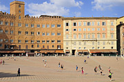 Human Being Posters - Piazza del Campo square Siena Italy Poster by Matthias Hauser