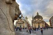 Fountains Photos - Piazza del Popolo by Joana Kruse
