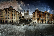 Di Digital Art - Piazza di Spagna by Andrea Barbieri