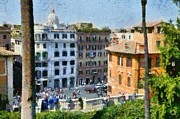 Sunny Art - Piazza di Spagna in Rome by George Atsametakis
