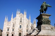 Catherdral Prints - Piazza Duomo in Milan Print by Giancarlo Liguori