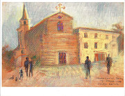 Pastel Paintings - Piazza Garibaldi Cervia RA by Suzanne Cerny