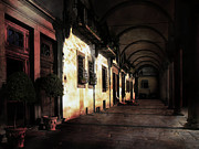 Shadows Photos - Piazza by Jan Pudney
