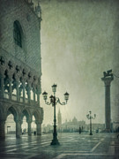 Venice Travel Prints - Piazza San Marco 2 Print by Marion Galt