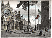 Nineteenth Century Digital Art - Piazza San Marco in Venice by Raffaella Lunelli