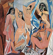 Fine Art  Of Women Paintings - Picasso Demoiselles 1907 by Granger