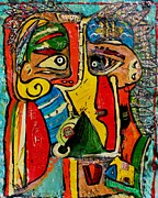 Americans Mixed Media Posters - Picasso Indians Poster by Jody Cooley