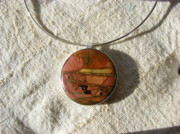 Mother Jewelry - Picasso Jasper Pendant by Barbara Jacquin