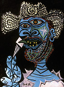 Portrait Art - Picasso: Man/hat, 1938 by Granger