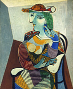 Aodcc Framed Prints - Picasso: Marie-therese Framed Print by Granger